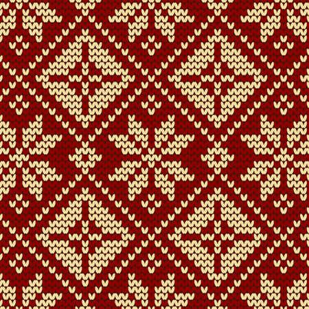 nahtlose Strickmuster, gestrickte Textur Nahtlos gestrickt Snowflake Vektor Hintergrund für Textil-Design. Wallpaper, Hintergrund.