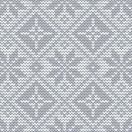 wintermode: nahtlose Strickmuster, gestrickte Textur Nahtlose Snowflake Knit Vector Hintergrund f�r Textil-Design. Wallpaper, Hintergrund. Illustration