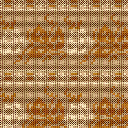 seamless knit pattern, knitted texture Seamless Snowflake Knit Vector background for textile design. Wallpaper, background. Stock Vector - 17586986