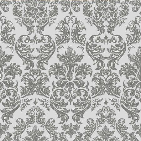 barroco: Seamless fondo vintage Vector de fondo para el dise?extil Fondo de pantalla, fondo, patr?e estilo barroco