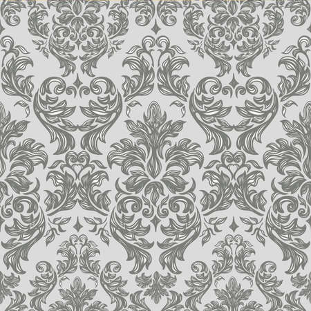 leafy: Seamless vintage background Vector background for textile design  Wallpaper, background, baroque pattern