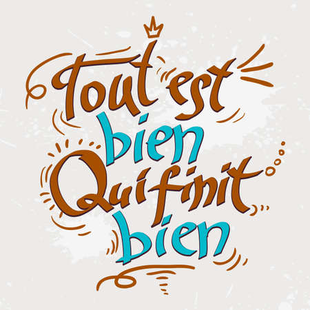 Hand drawn text lettering with Quotations Vector