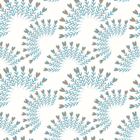 Cute valentines seamless pattern with hearts Vector