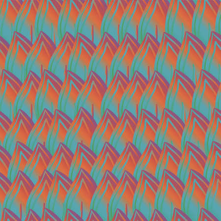 motton: Two vector abstract lattice seamless patterns in turquoise background