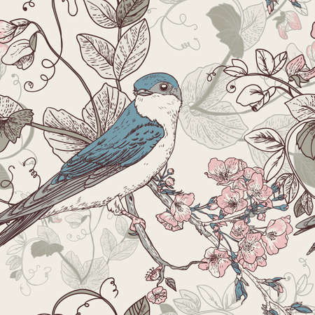 The wallpaper in vintage style Illustration