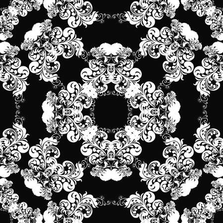 Classic decorative seamless vector black-and-white texture Stock Vector - 19890604