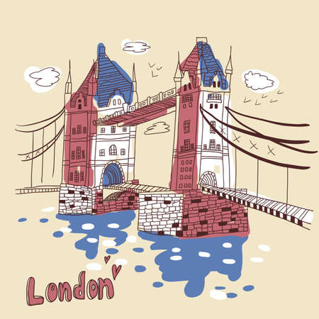London  doodles drawing landscape Stock Vector - 19904150