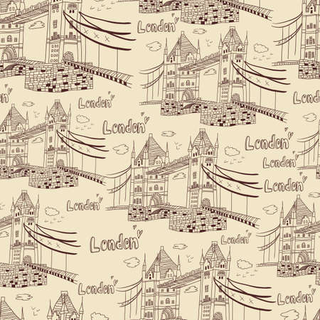 London  doodles drawing landscape Stock Vector - 19904161