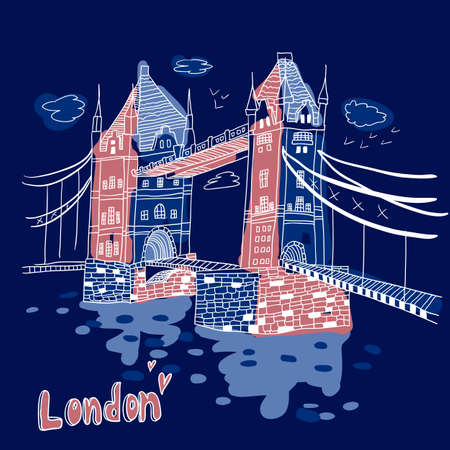London  doodles drawing landscape Stock Vector - 19904151
