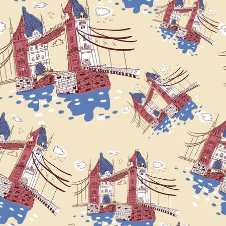 London  doodles drawing landscape Stock Vector - 19904155