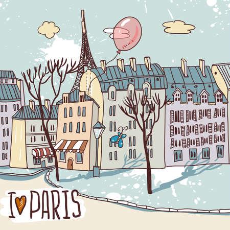 sidewalk cafe: paris urban sketch