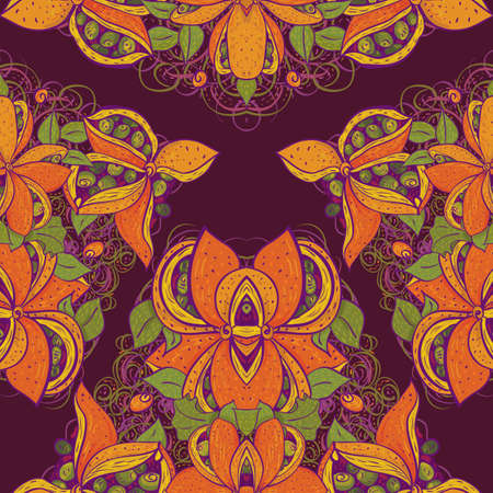 Seamless exotic flower pattern Vector
