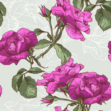 Beautiful Seamless Rose Background