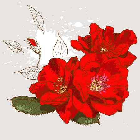 Beautiful seamless floral pattern Illustration