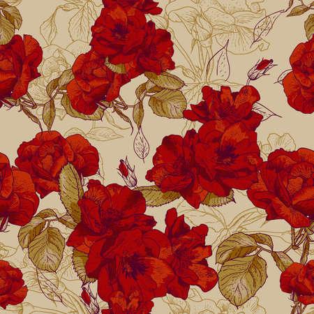 antikes papier: nahtlose rose rosa Hintergrund Entwurfsmuster - romantischen Stil
