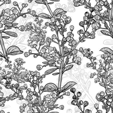 swill: Seamless monochrome floral pattern