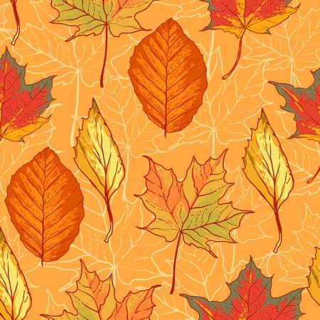 tissue paper: Seamless pattern with leaves