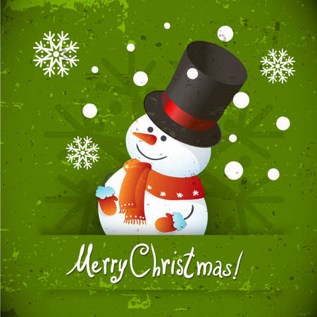 Snowman illustration for Christmas design  Vector