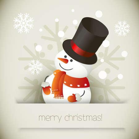 Sneeuwpop illustratie voor ontwerp Kerst Vector Illustratie