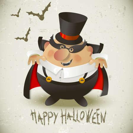 Cute Count Dracula   Halloween design background