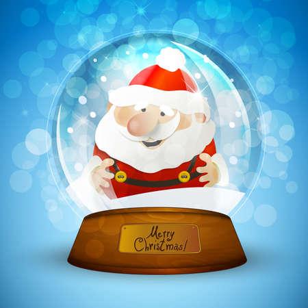 Christmas snow globe with Santa Claus Illustration