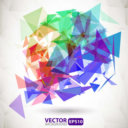Abstract colorful geometric background with explosion Vector