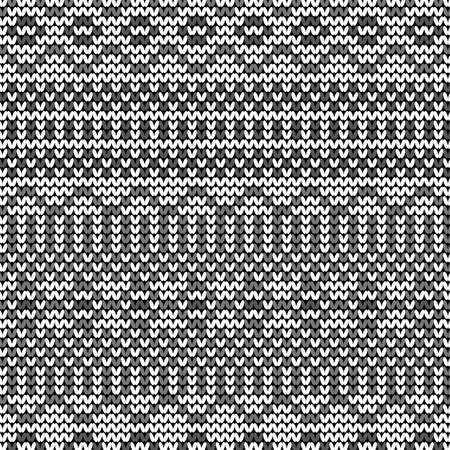 Monochrome seamless knitted pattern Stock Vector - 22474859