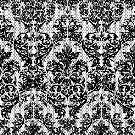バロックのシームレスなビンテージ レース背景 写真素材 - 23229060