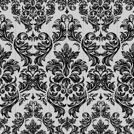 white victorian old retro vintage: Baroque seamless vintage lace background