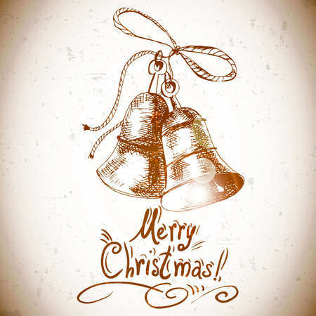 Christmas bell for retro design Vector