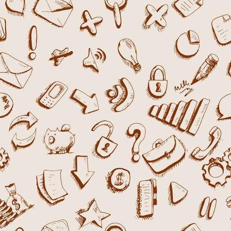 telefono caricatura: Los iconos de internet Doodle Comunicación fondo sin fisuras