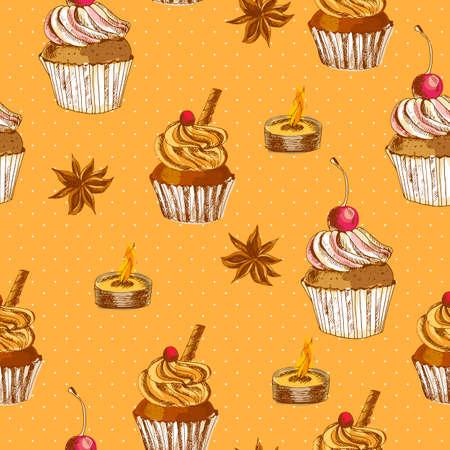 spice cake: Seamless with Cupcake and Cinnamon