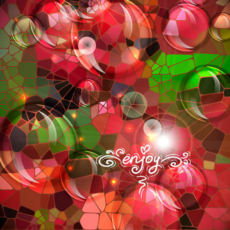 Abstract colorful shining circle vector background Vector