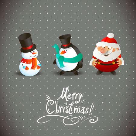 christmas characters: Cute Christmas Characters
