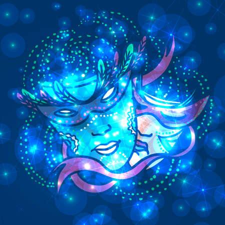 Carnival mask, vector illustration Stock Vector - 24544138