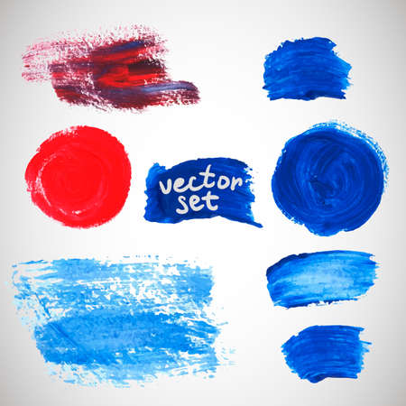brush strokes: Watercolor stains, elements for your design Illustration
