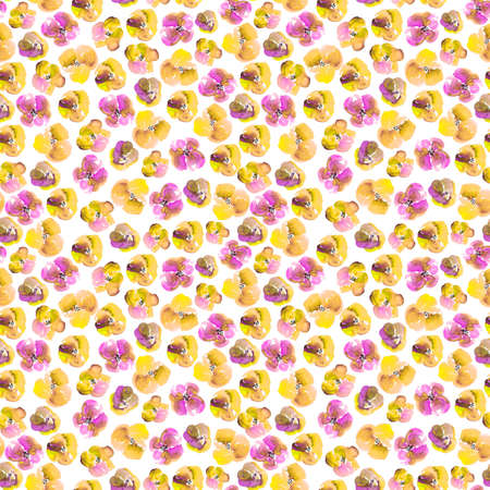 Watercolor Floral Seamless Background photo