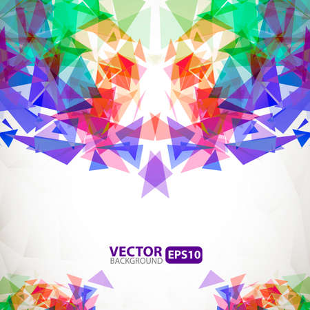 broken glass: Abstract geometric background with explosion Illustration