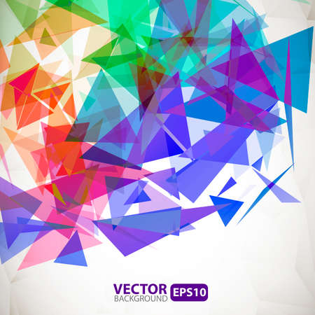 Abstract geometric background with explosion Vector