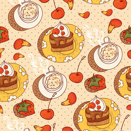Sweet Time Seamless Background Vector
