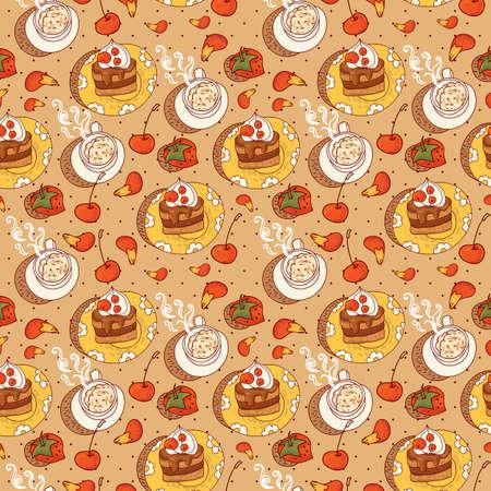 Sweet Time Seamless Background Illustration