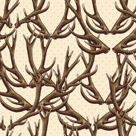 deer antlers with dotted background