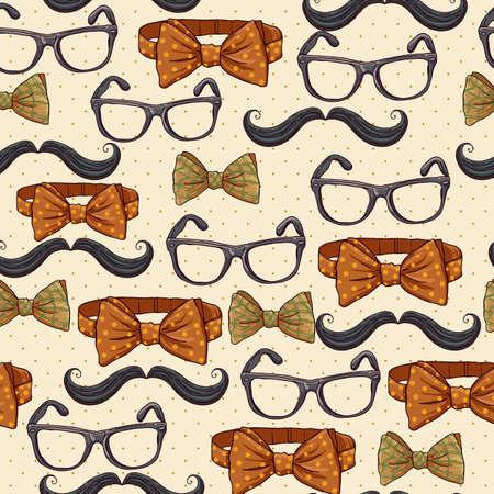 Seamless  vintage  hipster background Vector