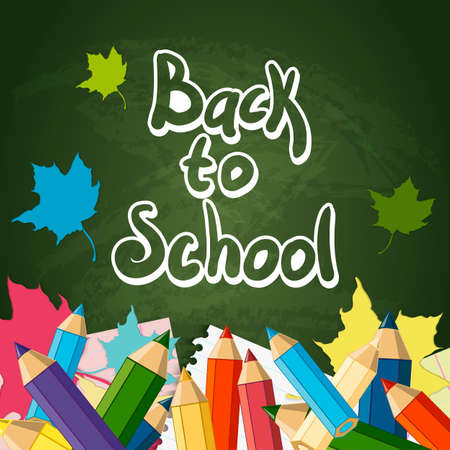 Back to School Vector Design element, School Autumn Background Vector