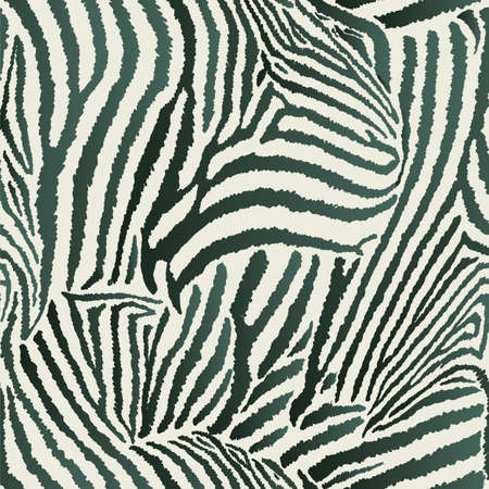 Animal Zebra Seamless Background Vector