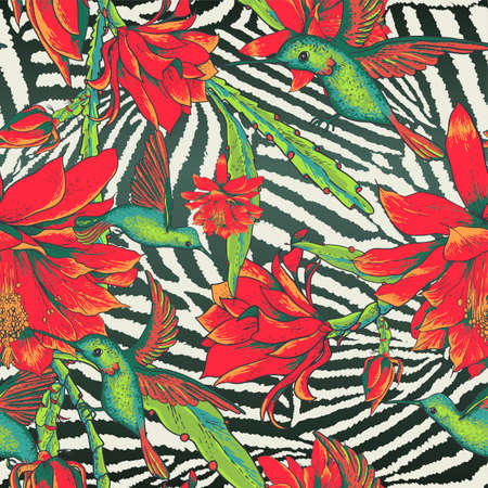 camouflage pattern: Tropical Seamless vintage floral pattern