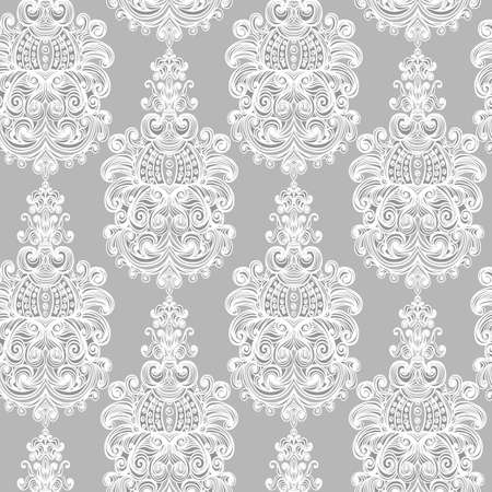 baroque background: Seamless vintage baroque background