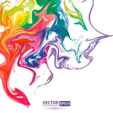 colorful grunge: Colorful stains of paint abstract background Illustration