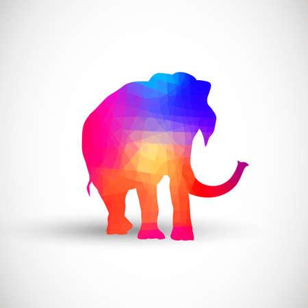 schattenbilder tiere: Geometrische Silhouetten Tiere Elephant