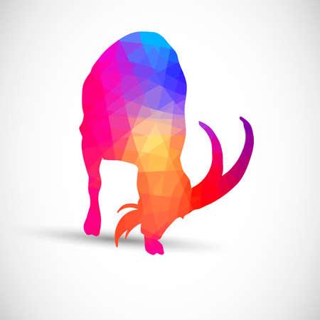 siluetas de animales: Siluetas geom�tricas animales Cabra Cabras monteses, Vectores